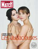 **ADDS**Sophie Marceau & Monica Bellucci ~ Paris Match ~ 14 mai 2009 ~ topless   x4+x7 scans