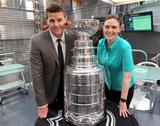 Emily Deschanel - With the Stanley Cup on the Set of 'Bones' - May 2, 2012 (x2)