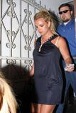 Britney Spears in black dress at Sur restaurant in Hollywood