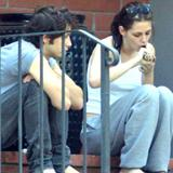 Kristen Stewart having a smoke x4